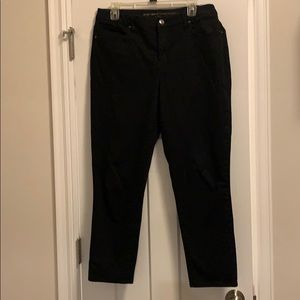 Chico's black girlfriend jeans.